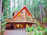 Glacier ski vacation log cabin rental - Washington self catering family home